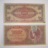 Bancnote Ungaria- 10000 pengo 1945 (cu timbru NMB)