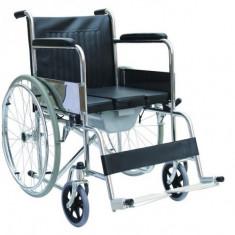 Scaun cu rotile (carucior rulant) cu vas WC inclus