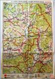 Harta Brasov,Fagaras,Sf.Gheorghe,Miercurea Ciuc, 1928