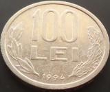 Moneda 100 Lei - ROMANIA, anul 1994  *cod 4255