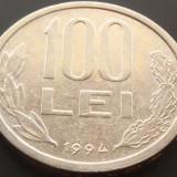 Moneda 100 Lei - ROMANIA, anul 1994 *cod 4255 - Moneda Romania