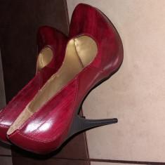 Vand pantofi cu toc Michael Antonio - Pantof dama Michael Kors, Culoare: Rosu, Marime: 38