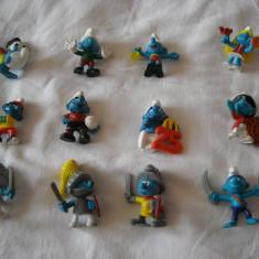 Strumfi, smurfs - Set 12 figurine cauciuc si plastic - Schleich, Bullyland, Peyo - Figurina Desene animate