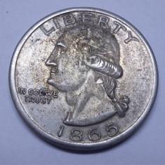 Moneda One Dollar 1865, America de Nord