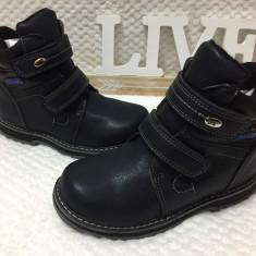Bocanci imblaniti negri cu scai copii baieti fete OK SPTOR 31 32 33 34 35 36 - Bocanci copii, Culoare: Din imagine, Piele sintetica