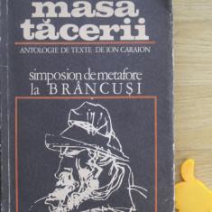Masa tacerii antologie de texte Ion Caraion cu autograf