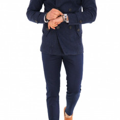 Palton pentru barbati, bleumarin cu imprimeu - LICHIDARE DE STOC - 9697 - Palton barbati, Marime: S, M, L, XL, XXL, Culoare: Din imagine