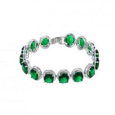 Bratara Luxury Platinium Green Emerald Cod produs: BR16G - Bratara din platina, Femei