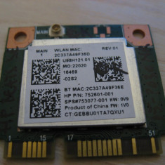 Placa wireless HP Beats 15-p030nr, U98H121.01, 752601-001, 753077-005