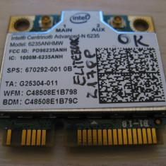 Placa wireless HP EliteBook 2170p, Intel Advanced-N 6235, 6235ANHMW, 670292-001