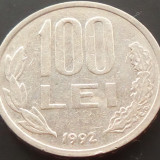 Moneda 100 LEI - ROMANIA, anul 1992 *cod 1772 - Moneda Romania