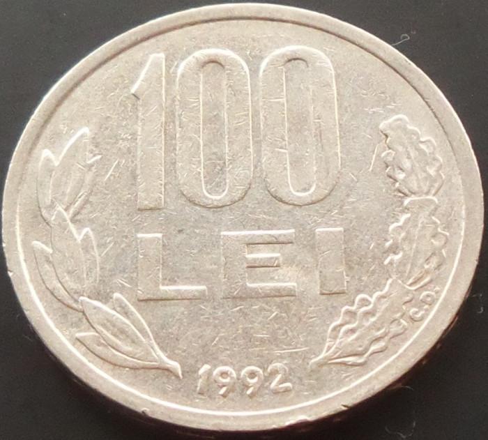 Moneda 100 LEI - ROMANIA, anul 1992 *cod 1772