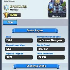 Cont clash royale best 3800, 13 legendare