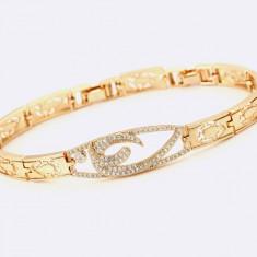 Bratara dama cristale zirconia dublu placata aur 18K Cod produs: BRC1 - Bratara placate cu aur, Femei