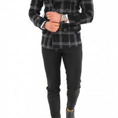 Palton pentru barbati, negru in carouri - LICHIDARE DE STOC - 9704 - Palton barbati, Marime: S, M, L, XL, XXL, Culoare: Din imagine