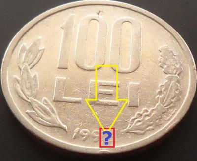 Moneda 100 LEI - ROMANIA, anul 199? *cod 4253  EROARE AN?? foto