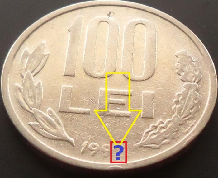 Moneda 100 LEI - ROMANIA, anul 199? *cod 4253  EROARE AN?? foto mare