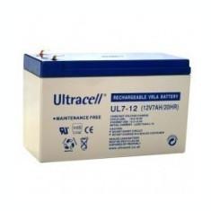 Acumulator UPS ULTRACELL UL12V7AH, 12V 7Ah