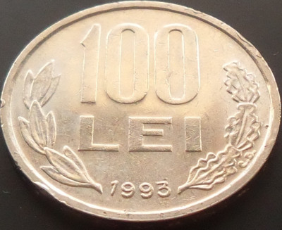 Moneda 100 LEI - ROMANIA, anul 1993 *cod 4252 foto