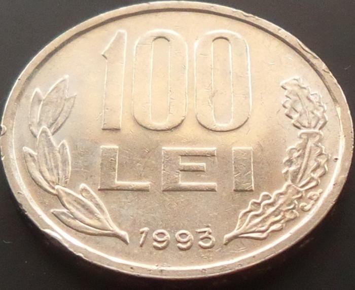 Moneda 100 LEI - ROMANIA, anul 1993 *cod 4252 foto mare