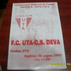 Program UTA - CS Deva - Program meci
