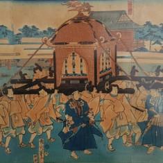 Stampa Japoneza pe hartie creponata - Arta din Asia
