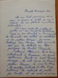 Scrisoare a lui Mircea Valea adresata Miei Groza