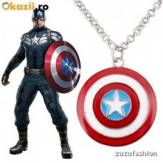 Pandantiv / Colier / Medalion /Lantisor Captain America Capitanul America + lant - Pandantiv inox