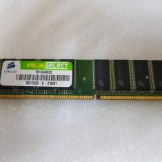 Memorie Corsair 1GB DDR 400 MHz Value VS1GB400C3 - poze reale - Memorie RAM laptop