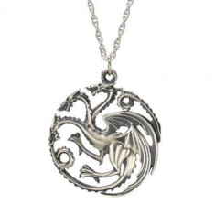 Pandantiv Medalion Lantisor Targaryen Game Of Thrones - Pandantiv fashion