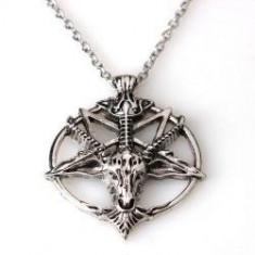 Pandantiv Medalion Lantisor pentagrama - Lantisor fashion