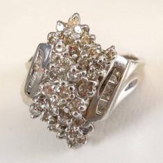 Inel din aur alb cu diamante - Inel aur alb