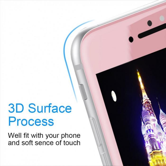 Folie de sticla 3D iPhone 7 Roz