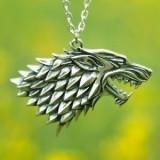 Pandantiv Medalion Lantisor Lup Game Of Thrones - Pandantiv fashion