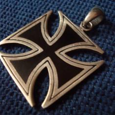 Crucea de Fier/ EK/ Argint 925 si Email/ Decor/ Colectie/ Vintage/ Bijuterii - Pandantiv fashion