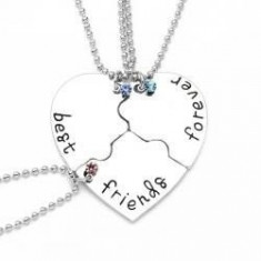 Set Medalioane Lantisoare Best Friend Friends Forever Inima (3 buc) - Lantisor fashion