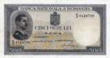 * Bancnota 500 lei 1936 -P