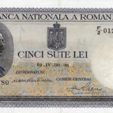 * Bancnota 500 lei 1936 -P - Bancnota romaneasca, An: 1966
