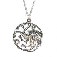 Colier Game of Thrones -Daenerys Targaryen Dragon Khalessi pandantiv cu lantisor