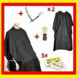 Set Kit Frizerie Brici Frizerie 2x Pelerina+ 1 Pamatuf + 1Set Lame