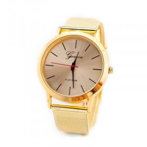 Ceas dama Geneva elegant fashion luxury style bratara metalica gold