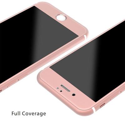 Folie de sticla securizata 3D iPhone 6/6S Roz foto