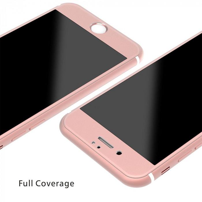 Folie de sticla securizata 3D iPhone 6/6S Roz foto mare