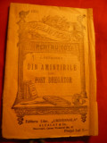 I.Petrovici - Din Amintirile unui fost dregator - BPT nr.1331 - Ed. 1933 Alcalay