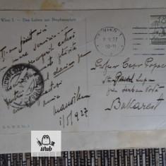 Carte postala 1927 Expeditor - Mihail Manoilescu Destinatar - C Papacostea, Austria, Circulata, Printata