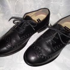 PANTOFI DIN PIELE, BATA, MAR 36. - Pantof dama Bata, Culoare: Negru, Cu talpa joasa