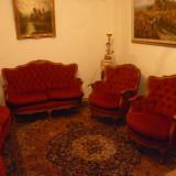 Salon sufragerie Chippendale de la 1920-1940 4 piese, restaurat profesional!