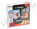 Joc puzzle dublu Mickey Mouse & firiends, Alte materiale