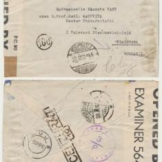ROMANIA 1945-1956 lot 6 plicuri Emil Racovita inclusiv cenzuri, timbre autograf