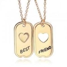 Pandantiv Medalion Colier Lantisor - BFF BEST Friend FRIENDS SET 2 BUC - Lantisor fashion